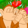 Jeu de bisous des singes