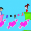 Jeux de fille : les bisous  distance