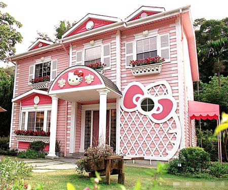 Une vraie maison hello kitty - La maison de hello kitty ...