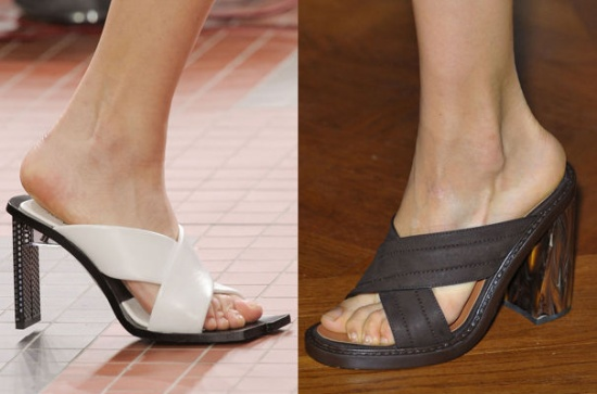 Chaussures de printemps: les mules croisées