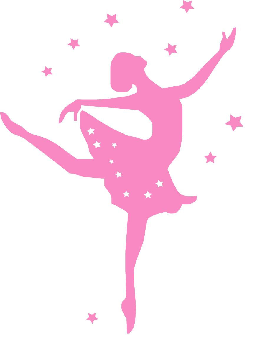 Stickers danseuse rose