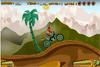 Course de moto en montagne