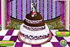 Gâteau de mariage glacé à décorer