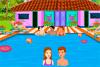 Bisous à la piscine