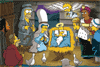 Jeu de Noël avec Les Simpsons