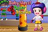 Baby hazel fait de la boxe