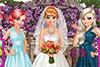 Une mariée et ses 2 demoiselles d'honneur