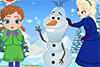 Bonhomme de neige à construire et fille à soigner