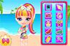 Bébé Barbie à la plage
