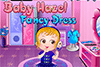 Bébé Hazel déguisée en paon