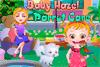 Bébé Hazel et son Perroquet