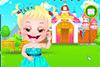 Bébé Hazel déguisée en princesse