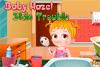 Bébé Hazel a des boutons