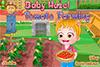 Bébé Hazel plante des tomates