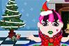 Bébé Monster High habillée pour Noël