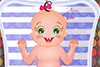 Le bain de bébé Rose