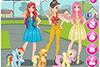 Barbie habillée et maquillée comme les petits poneys