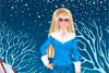 Barbie habillée pour l'hiver