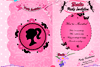 Carte d'invitation de Barbie