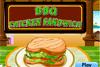 Sandwich au poulet sauce barbecue