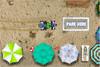 Jeux de parking à la plage