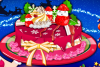 Gâteau de Noël décoré
