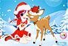 Fille de Noël et renne à habiller