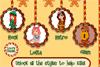 Différents styles de Noël
