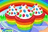 Cup-cake arc en ciel