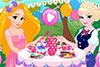 Des princesses à une tea party