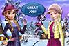 2 soeurs habillées pour l'hiver