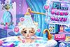 Le bain de bébé Elsa
