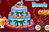 Un gâteau sur la plage