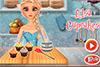 Cuisiner des cupcakes avec Elsa