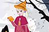 Elisa déguisée en Hermione
