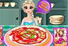 Cuisiner une pizza avec Elsa