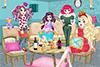 Décore le salon des filles de princesses