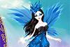 Une fée tout en bleu