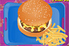 Plateau repas: hamburger