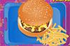 Plateau repas: hamburger
