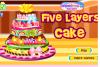 Décore un gâteau à 5 étages