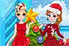2 soeurs habillées pour le réveillon de Noël