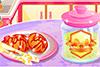 Table de petit déjeuner à préparer