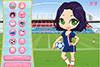 Joueuse de foot à habiller