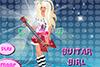 Jolie guitariste à habiller