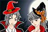 Couple déguisé pour Halloween