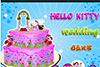 Le gâteau de mariage d'Hello Kitty