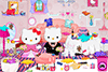 Range le salon d'Hello Kitty
