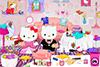Range le salon d'Hello Kitty