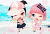 2 copines sur la plage